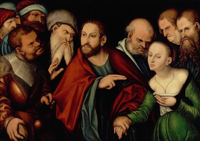 Le Christ et la femme adultere, peinture