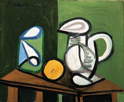 Pablo Picasso. Nature morte au pot et à l\'orange – ▷ Phil info